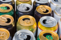 empty cans of energy drinks and alcohol