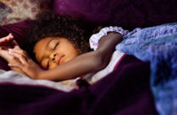 Child sleeping night before school