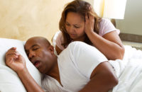 Woman can't sleep because of snoring husband