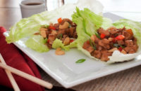 gluten free lunch with lettuce wraps