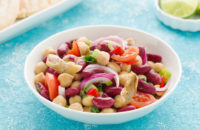 veggie bean and artichoke salad