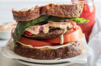 Portobello Sandwich, Dijon Vinaigrette,Healthy Sandwiches