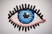 eye made out of medications