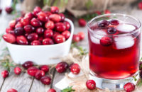 Cranberries and juice
