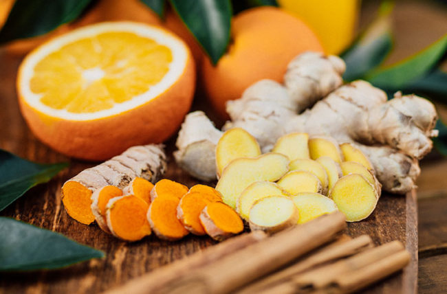 ginger and tumeric roots ease arthritis pain
