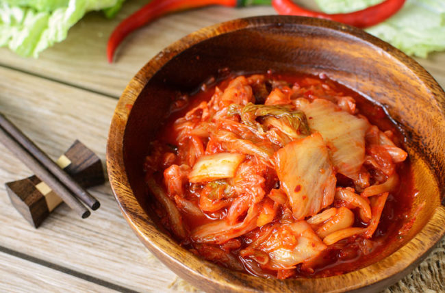 Kimchi in a bowl.