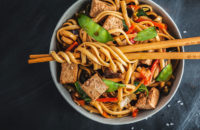 veggie stir fry with ginger sauce