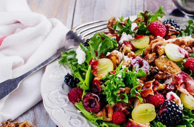 chicken raspberry walnut salad