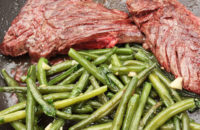 flank steak and green beans