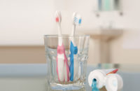 Toothbrushes in close proximity