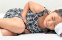 child with stomachache
