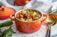 Soup, Heart Healthy, Vegetarian, White Beans, Spinach
