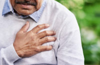 Man suffering with chest pain