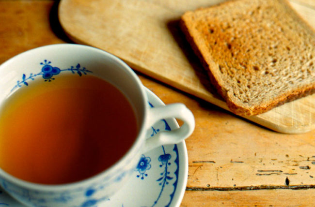 tea and toast when not feeling well