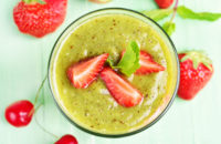 Recipe: Creamy Strawberry and Greens Smoothie