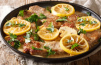 Pork Scaloppini lemons dill
