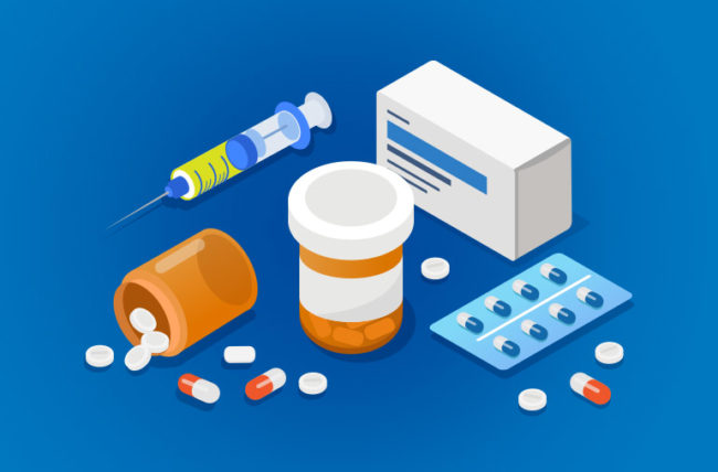 illustration of medications