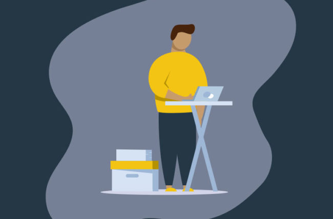 Standing desk helps dead butt syndrome