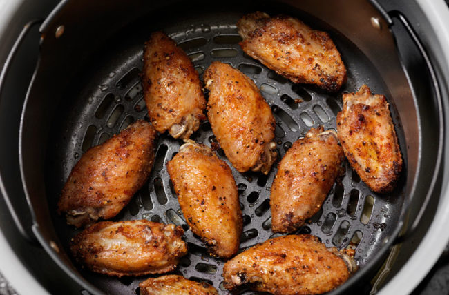 Chicken being air fried