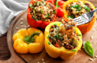 Recipe: Stuffed Peppers with Veggies and Quinoa