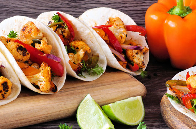 recipe cauliflower tacos with tomatoes and peppers
