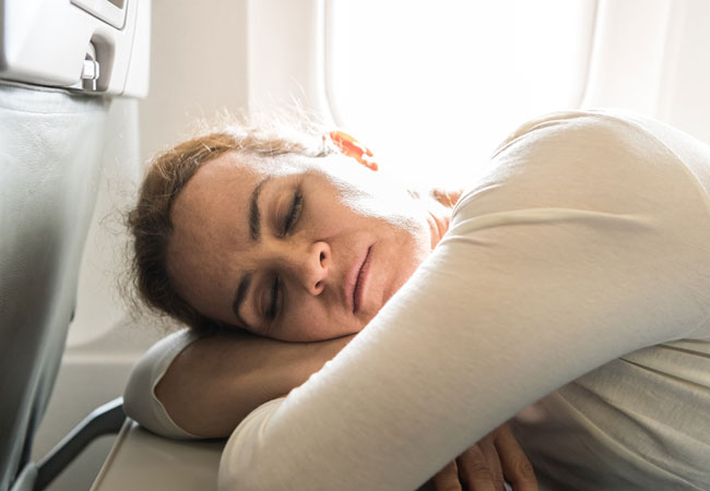 Airplane travel affects body