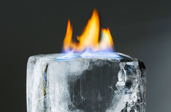 Fire on Ice - hot or cold