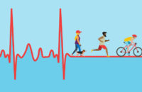 Heartbeat with people exercising