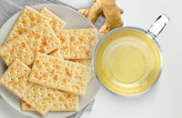 Saltines and ginger tea