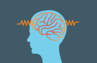 Brain wave illustration for epilepsy