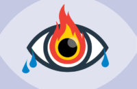 Eye on fire and watery Illustration
