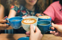 Women drink caffeinated coffees which can help with migraines