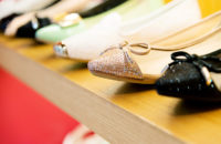 Women's shoes displayed in a store