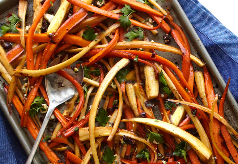 Recipe: Roasted Carrots with Parsnips