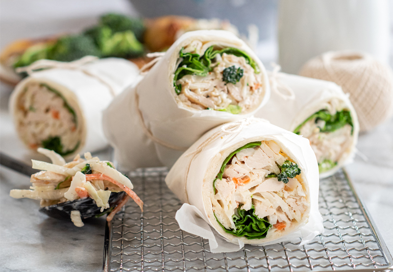 Chicken and Broccoli Slaw wrap