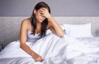 depressed woman missing out on sleep