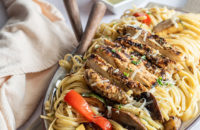 Chicken, Pasta, Linguine, Vegetable Linguine