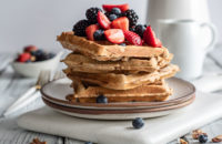 Heart Healthy Recipes, Health, Whole Wheat, Oats, Waffles