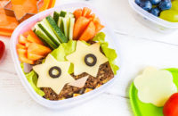 healthy preschooler lunch with fun shapes
