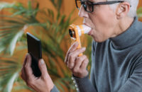 asthma and flu check using spirometer
