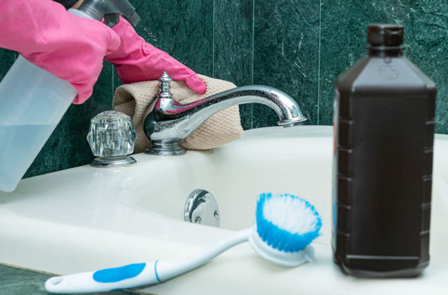 hydrogen peroxide used for cleaning