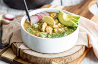 heart healthy recipes, slow cooker, pozole, soup, chicken pozole, soup recipes, chicken