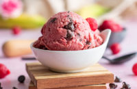 ice cream, cherry ice cream, dairy free, dairy free desserts, healthy desserts