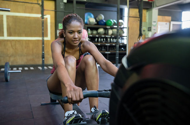 rowing, rowing machine, cardio, exercise and health
