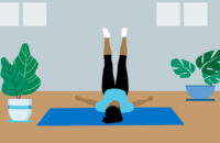 yoga position Legs Up On Wall