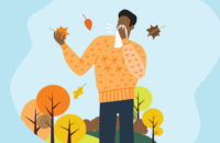 man with fall allergies